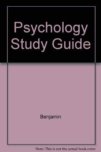9780023880612: Psychology Study Guide