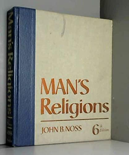 9780023884306: Man's Religions