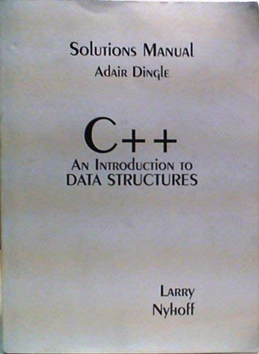 9780023887277: C++ an Introduction to Data Structures