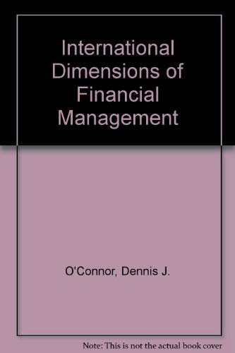 9780023888816: International Dimensions of Financial Management