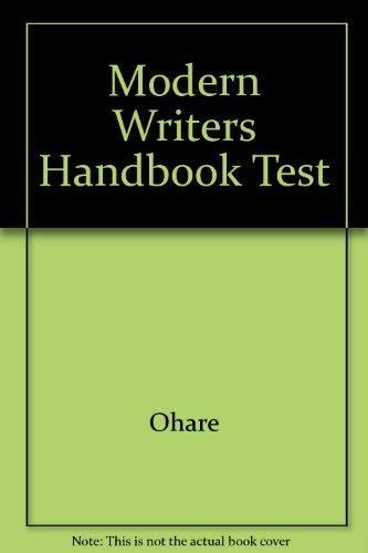 9780023891748: Modern Writers Handbook Test
