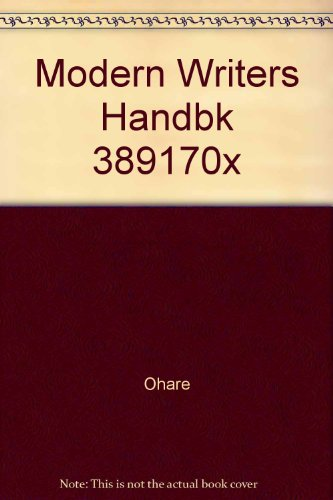 9780023891847: Modern Writers Handbk 389170x
