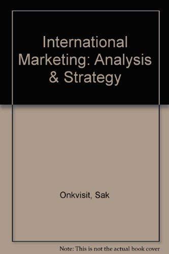 9780023893438: International Marketing: Analysis & Strategy
