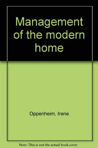 9780023894404: Management of the modern home