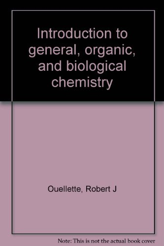 9780023898914: Introduction to general, organic, and biological chemistry