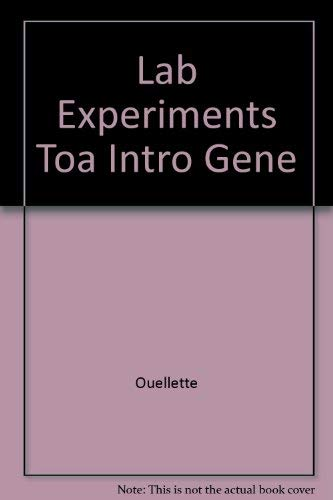9780023899348: Experiments in General, Organic, and Biological Chemistry