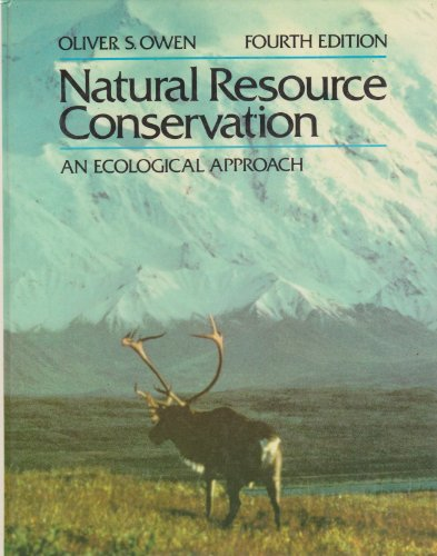 9780023901003: Natural Resource Conservation: An Ecological Approach