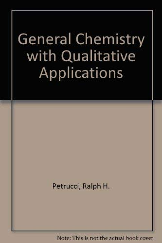 9780023917806: General Chemistry With Qualitative Analysis