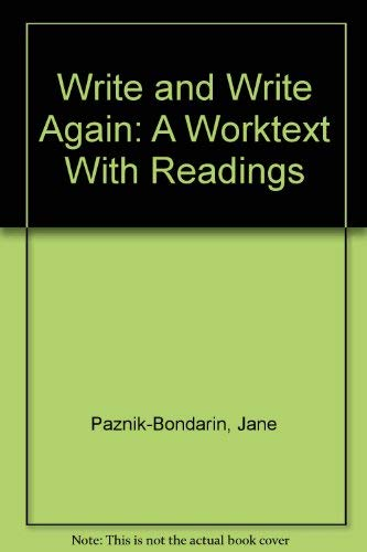 9780023932205: Write and Write Again: A Worktext With Readings