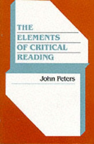9780023946011: The Elements of Critical Reading