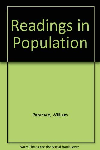 Readings in Population Petersen, William