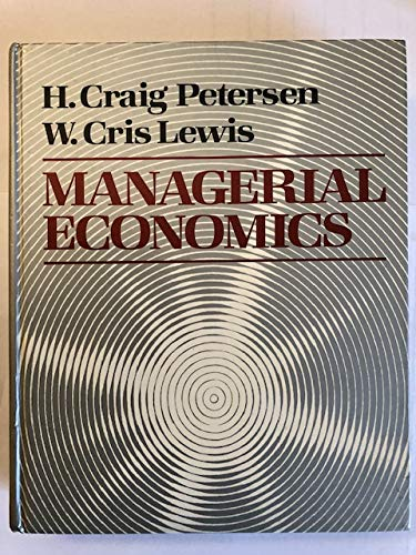9780023948503: Managerial Economics