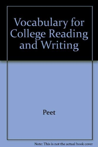 9780023949418: Vocabulary for College Reading and Writing