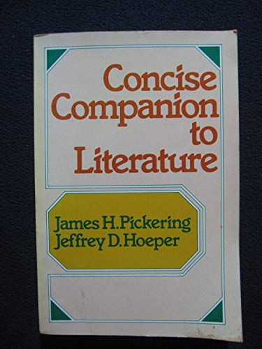 9780023954009: Concise Companion to Literature