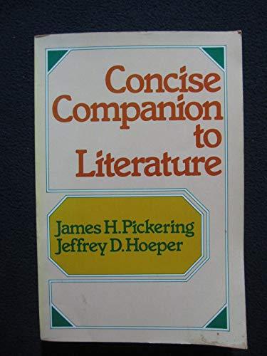9780023954009: Concise companion to literature
