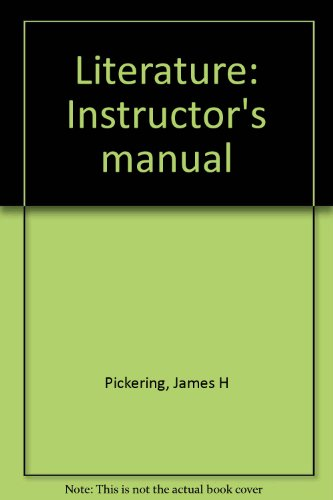 9780023954405: Literature: Instructor's manual