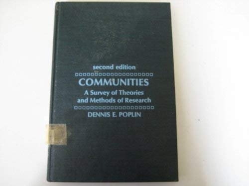 9780023961601: Communities: A Survey of Theories and Methods of Research