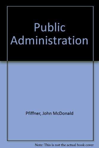 9780023965708: Public Administration