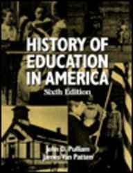 9780023968181: History of Education in America