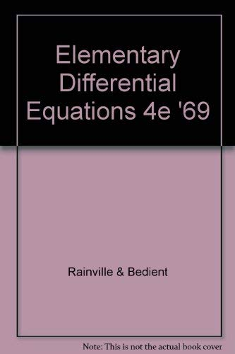 9780023977008: Elementary Differential Equations
