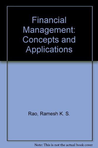 9780023982118: Financial Management: Concepts and Applications