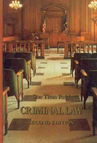 9780023991714: Criminal Law