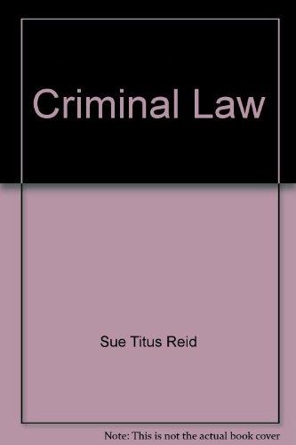 9780023992117: Criminal Law