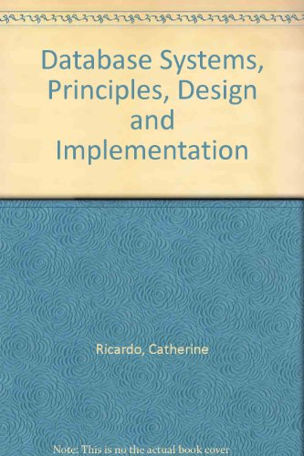 9780023996658: Database Systems: Principles Design and Implementation