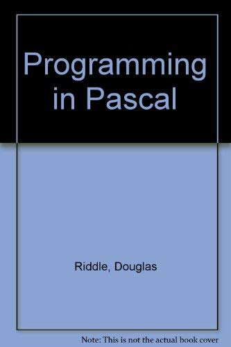 9780023998157: Programming in Pascal