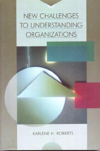 9780024020529: New Challenges to Understanding Organizations