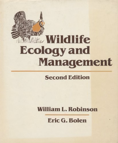 9780024022516: Wildlife Ecology and Management