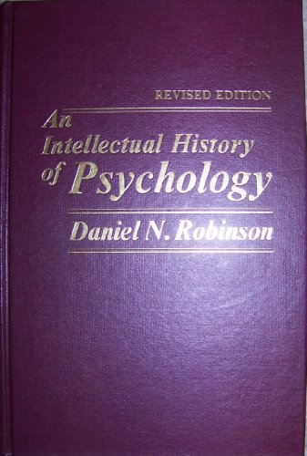9780024024800: Intellectual History of Psychology
