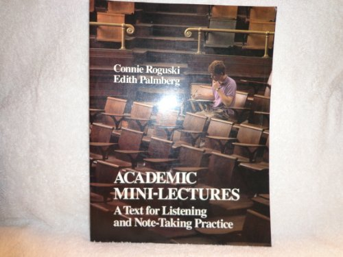 9780024031303: Academic Mini-Lectures: A Text for Listening and Note-Taking Practice