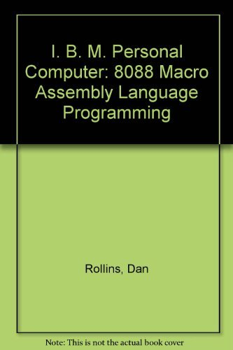 9780024032102: IBM-PC: 8088 MacRo Assembler Programming