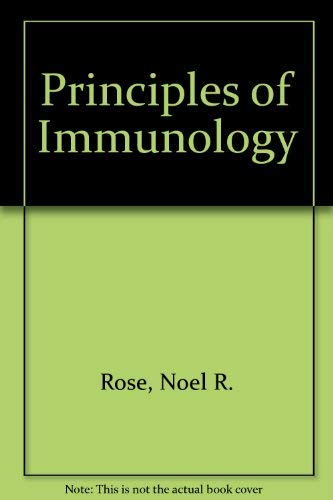 9780024036100: Principles of Immunology