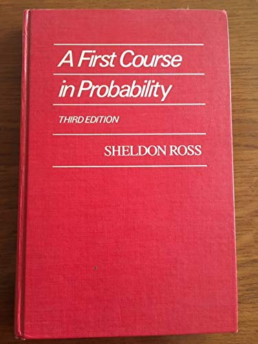 9780024038500: A First Course in Probability