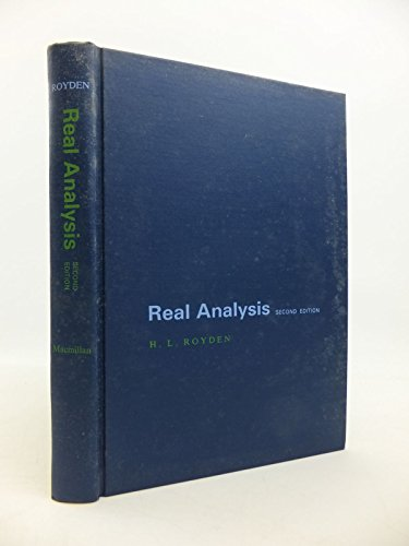 9780024041500: Real Analysis