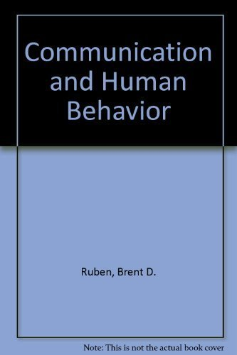 9780024042705: Communication and Human Behavior
