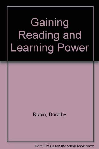 9780024042903: Gaining Reading and Learning Power