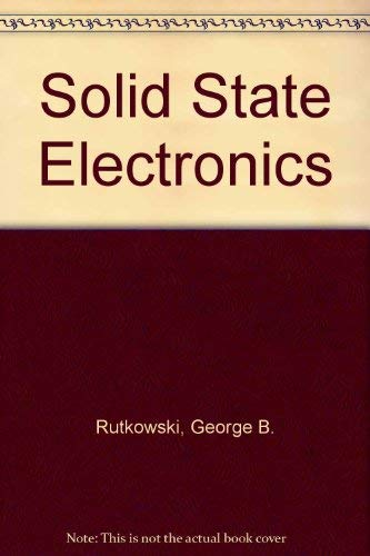 9780024045706: Solid State Electronics