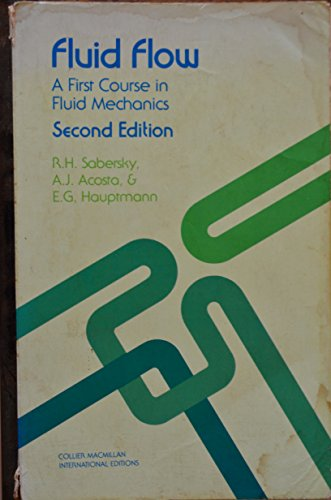 9780024049612: Solutions manual: Fluid flow : a first course in fluid mechanics