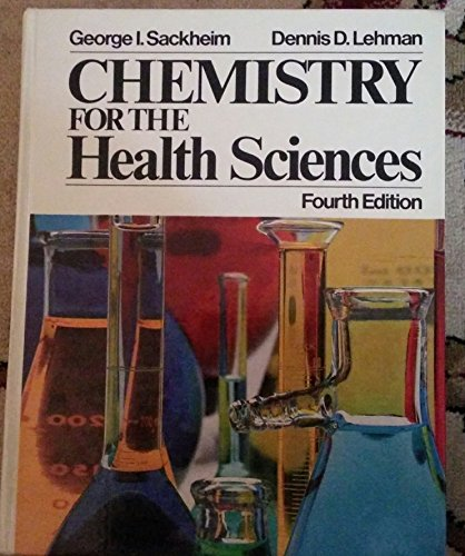 9780024050304: Chemistry for the health sciences