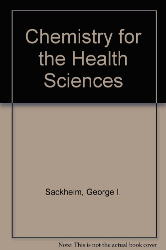 9780024050908: Chemistry for the Health Sciences