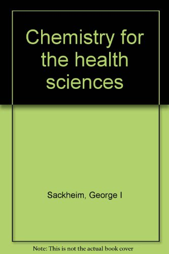 9780024051400: Chemistry for the health sciences