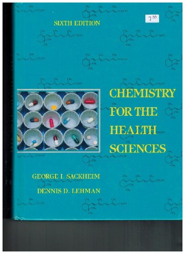 9780024051516: Chemistry for the Health Sciences