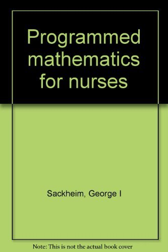 9780024051905: Programmed mathematics for nurses