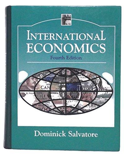 9780024053510: International Economics