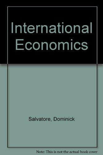 9780024053602: International Economics