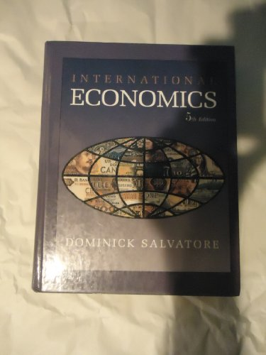 9780024053817: International Economics