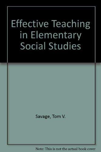 9780024064004: Effective Teaching in Elementary Social Studies